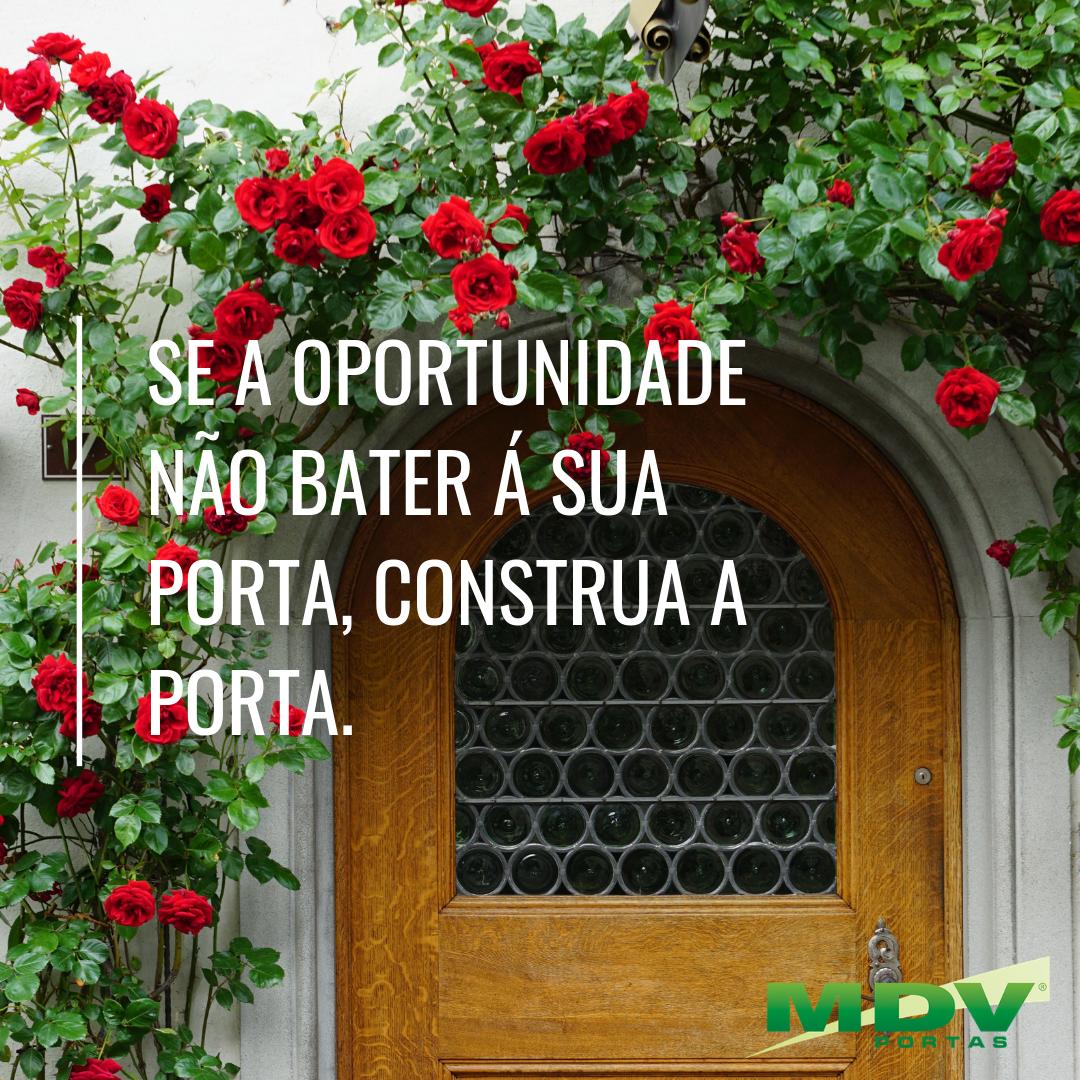 Se a oportunidade não bater á sua porta, construa a porta.